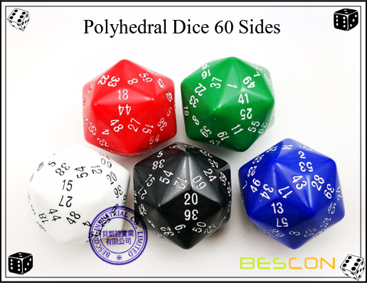 Polyhedral Dice 60 Sides