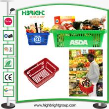 Kleiner Lebensmittel-Einkaufskorb mit Griffen