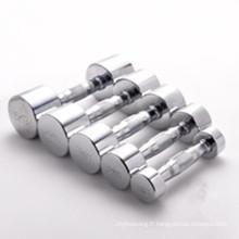 Dumbbell chromé durable en acier inoxydable de haute qualité