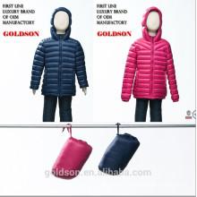 2015 Dernières Italie design des gamins ultralégers canard en veste en Chine manufactory