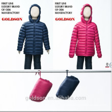2015 Latest Italy design ultralight kids duck down jacket in China manufactory