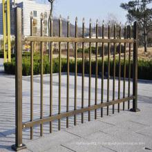 Panneaux de clôture tubulaires en aluminium décoratifs en aluminium