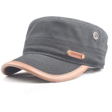 Leisure Embossed PU Applicate Baseball Military Hat