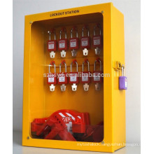 Approve CE more humanized design vinyl resin insulating layer safety lockout tagout stations