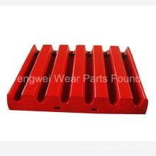 Portez des accessoires de plaque de mâchoire à risque pour le concasseur à mâchoire Metso