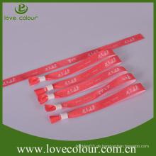 Bestes verkaufendes Gewebearmband-Armbänder mit kundenspezifischem Firmenzeichen