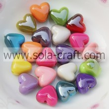 7 * 9 * 10 MM China Bicolor corazón espaciador de perlas por mayor