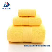 Meilleur Qualité 5 étoiles Hôtel utilisé 100% coton serviette de bain ensemble