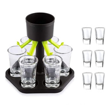 wholesale bar accessories wine beer drinking tools liquor rack 6 shot glass dispenser and holder