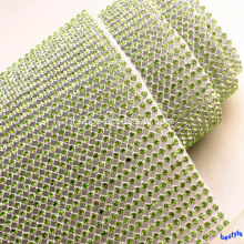 Wrap Mesh Peridot diamante Rullo Sparkle strass