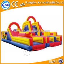Double lane outdoor obstacle course equipment, kids obstacle course equipment for sale