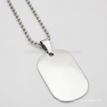 Custom Your Own Logo Acier inoxydable Cheap Blank Dog Tag Necklace