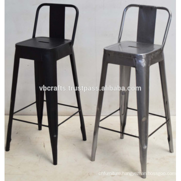 Vintage Industrial Metal Bar Chair