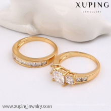 13724 Xuping 18k gold new style ring set with zircon