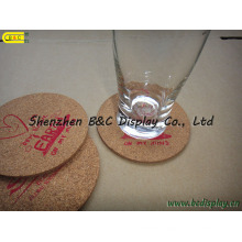 Waterproof Heat-Resistant Cork-Backed Coasters (B&C-G071)