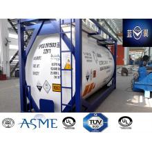 Recipiente de tanque de aço de carbono de 38000L 30FT para produtos químicos, gás, combustível Appvoed por Lr, ASME