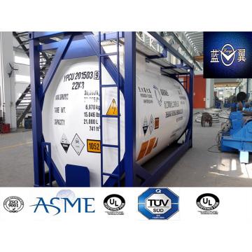 38000L 30FT Carbon Stahl Tankcontainer für Chemikalien Gas, Kraftstoff Appvoed von Lr, ASME