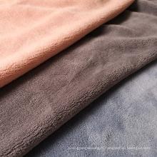 Tissu en polyester polaire corail doux et chaud à double face