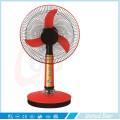 12 '' 16 '' Plástico elétrico DC Ventilador de mesa recarregável solar