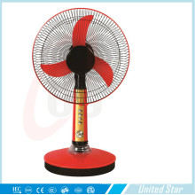 12′′ 16′′ Electric Plastic DC Solar Rechargeable Table Fan