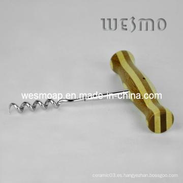 Sacacorchos de vino de la estera de la taza de bambú (wtb0508a)