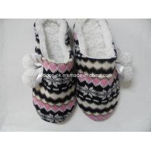 Kundenspezifische Soem-Damen strickten Innenpantoffel-Schuh-Frauen-Knit-Schuhe
