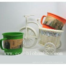 Coupe en fibre de bambou avec écologie (BC-C1004)