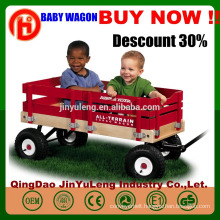 four wheels baby Children kids Wooden folding wagon cart tool cart Outdoors, the beach park