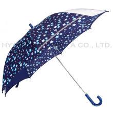 Paraguas abierto de seguridad reflectante para niños