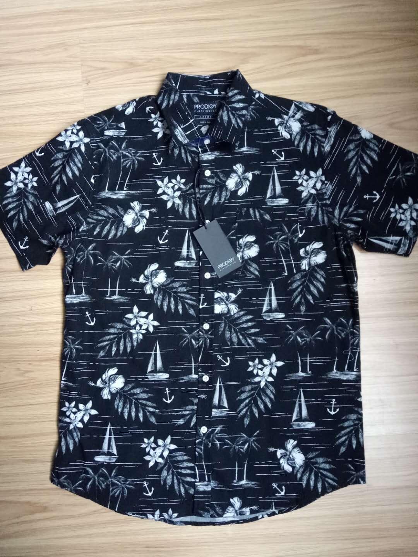 Mens Print Short Sleeves Shirt