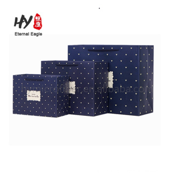Custom logo packaging foldable recycled paper tote bags