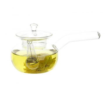 handmade fire resistant small glass teapot