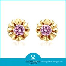 Серьга ювелирных изделий золота диаманта оптовой продажи 2013
