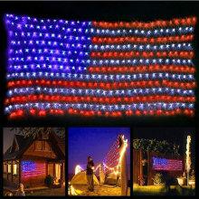 Led Flag Net Lights of The United States
