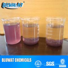 Les colorants roses colorent les produits chimiques de traitement des eaux usées