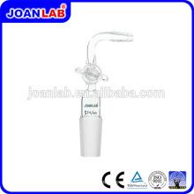 Joan Laboratory Glassware Tubo de sucção Junta masculina dobrada com chave de vidro
