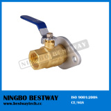 NPT Thread Flange Brass Ball Valve with Level Handle
