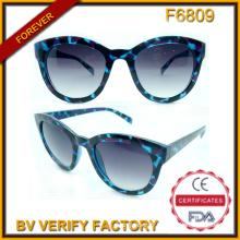 F6809 Lunettes de soleil Cat Eye tortue femme Occhiali rétro