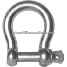 1T Screw Red Pin Bow Shackle from Factory Direct on Sale