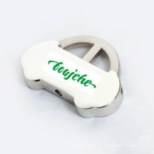 Porte-clés publicitaire promotionnelle en forme de voiture avec logo de l'entreprise (F1290)