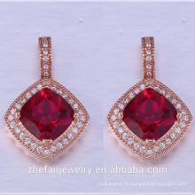 quadratische Form spezielle einzigartige natürliche Perle gesetzt Schmuck Sets 925 Silber