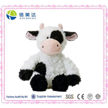 Jouets de vache assis en peluche réalistes et personnalisés / Logo personnalisé