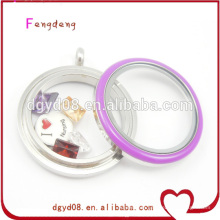 Purple enamel locket charm manufacturer