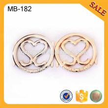 MB182 aleación de zinc por encargo etiqueta de metal de oro, etiqueta de metal, logotipo de bolso