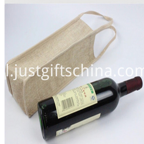 Promotional 1 Bottle Jute Wine Bags