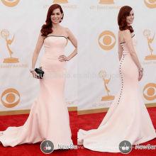 Die 65. Emmy Awards Carrie Preston Rote Teppich Berühmtheit Kleid trägerlosen langen Meerjungfrau Schwanz Satin Abendkleid Hot Verkauf NB0796
