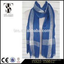 Billige Spezialprozesse Polyester Stoff Frauen Schal mit Metallic in China hergestellt