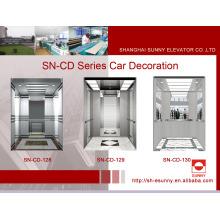 Decoración de la cabina del elevador con el marco del St. St (SN-CD-128)