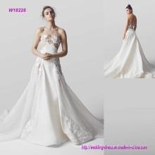 Embroidered Sweetheart Neckline A-Line Wedding Dress