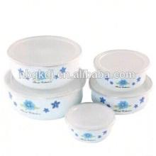 5pcs enamel flower bowl wedding candelabra crystal wedding cen